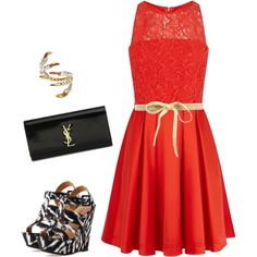 Untitled #33 by glamandcity on Polyvore featuring polyvore, fashion, style, Karen Millen, Charlotte Russe, Yves Saint Laurent, Tessa Metcalfe and Paul & Joe