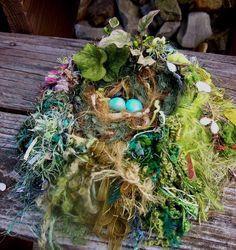 Knitted Birds Nest Reserved for Kathy S. by vboster on Etsy