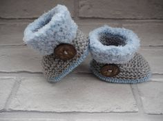 blue baby booties/Ugg booties/baby shoes/baby fur booties/baby