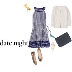 Movie Night by bellrae on Polyvore featuring Boden, Kate Spade, DateNight, katespade, movieNight and 60secondstyle