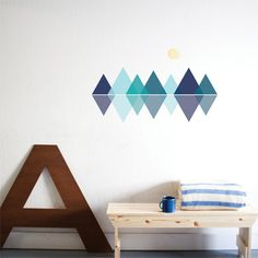 Paige Russell for The Wall Sticker Company Canadian mountain wall decals
