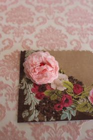 """Isabelle Thornton"" Le Chateau des Fleurs: How to make an English cabbage rose with paper for scrapbooking and handmade tags"
