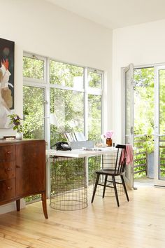 Contemporary Home Office by Dehn Bloom Design