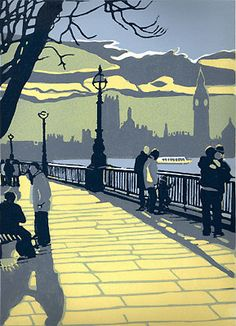 Decisions......lovely print of London by Max Angus