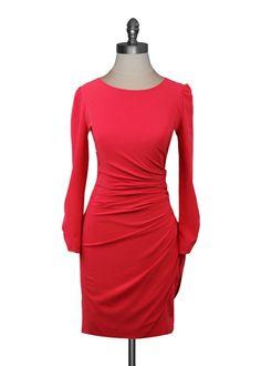 Twist Back Dress in Poppy