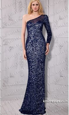 fabulous Sheer open back Floor length one shoulder sequin formal gown.prom dresses,formal dresses,ball gown,homecoming dresses,party dress,evening dresses,sequin dresses,cocktail dresses,graduation dresses,formal gowns,prom gown,evening gown.
