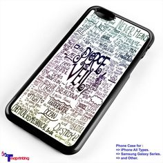 Pierce The Veil Song Lyric - Personalized iPhone 7 Case, iPhone 6/6S Plus, 5 5S SE, 7S Plus, Samsung Galaxy S5 S6 S7 S8 Case, and Other