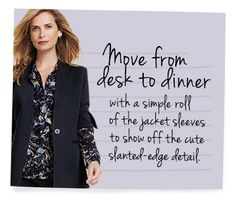 The Turner Jacket does the trick!  Classic with a twist!  Discover all the style tips from CAbi including video and style guides. View the Fall Collection.