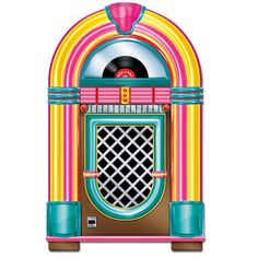 Need a life-sized jukebox for your sock hop? Try this cardstock Jukebox Cutout to give your party the feel of a real soda shop. Pink Cadillac, 50s Theme Parties, Party Themes, Party Ideas, Grease Themed Parties, Mouse Parties, Event Themes, Party Props, Jukebox