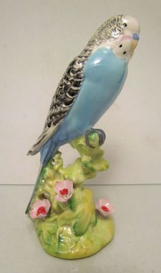 vintage porcelain budgerigar. Was gifted a set of these...one blue and one yellow.