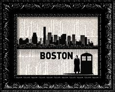 Dr+Who+Visits+Boston++Skyline+Map++Buy+2+Get+1+by+TheRekindledPage,+$8.98