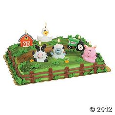 Farm Party Cake Topper Candles - Oriental Trading