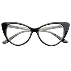 Clear Lens Retro Cat Eye Glasses C101