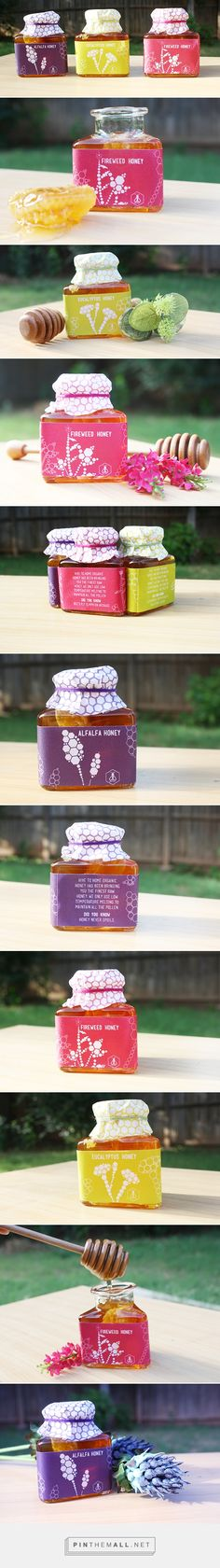 Hive to Home organic honey #packaging on #Behance by Denethi Mahaliyanage curated by Packaging Diva PD created via https://www.behance.net/gallery/19794781/Hive-to-Home-organic-honey