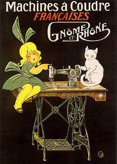Cute Vintage Sewing Machine Poster