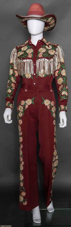 Manuel Cuevas 3-piece lady's rodeo outfit, 1970