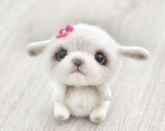 Needle felted animal  Felt doll  Toy  Felted toys  by VladaHom