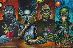 Classic horror monsters