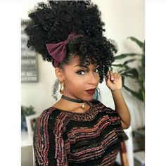 Popular afro hairstyles for woman – My hair and beauty Natural Hair Inspiration, Natural Hair Tips, 4a Natural Hair Styles, Natural Hair Bangs, Natural Beauty, Natural Hair Puff, Natural Curls, Pelo Afro, Afro Puff