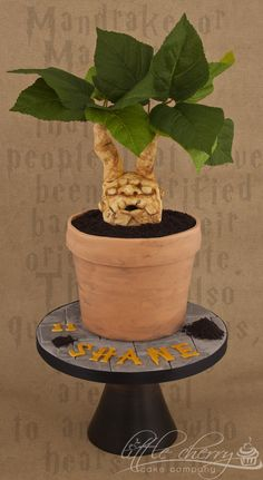 Mandrake Plant Cake Harry Potter by Little Cherry Cake Company (T-Cakes) (10/5/2012)  View cake details here: http://cakesdecor.com/cakes/31213