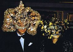 On 12/12/72 Marie-Hélène de Rothschild, member of the most powerful elite family in the world, held a Surrealist Ball at Château de Ferrières, one of the family's gigantic mansions; PHOTOS OF THIS PARTY AND THEIR INTRIGUING COSTUMES HAVE SURFACED, THIS IS ONE OF THEM: