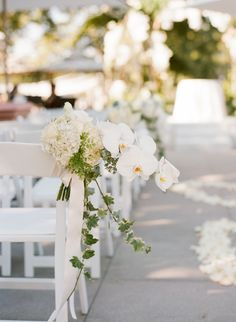 #aisle-decor    Read More: http://www.stylemepretty.com/2015/01/08/elegant-blush-ivory-outdoor-wedding/