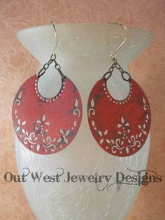Gypsy Cowgirl Earrings  Antiqued Brass Crescents by Outwestjewelry