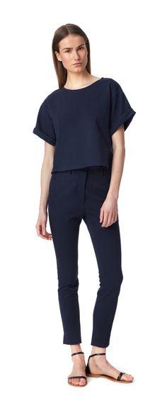 Camilla high waisted trouser - navy | Apiece Apart