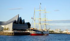 Exterior shot of the Riverside Museum from the River Clyde- Free things to do in Glasgow