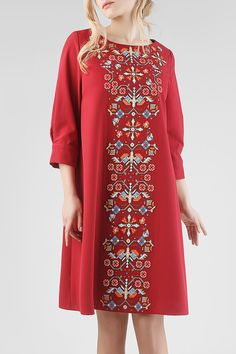 "Сукня HRW-DR25 - купити вишиті сукні в магазині ""Гойра"" Ethnic Fashion, Boho Fashion, Womens Fashion, Fashion Details, Fashion Design, Korean Fashion Trends, Caftan Dress, Linen Dresses, Linen Pants"
