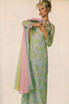 Vogue April 1968, maxi dress