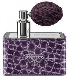 Limited Edition Prada Perfume with Purple Crocodile Case