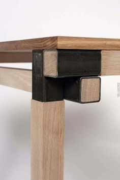 XYZ Interesting joint to use on a variety of applications.- XYZ Interesting joint to use on a variety of applications…desks, tables, etc. XYZ Interesting joint to use on a variety of applications…desks, tables, etc. Industrial Furniture, Wood Furniture, Furniture Design, System Furniture, Furniture Plans, Wood Steel, Wood And Metal, Steel Rod, Furniture Projects