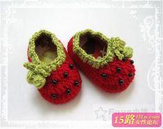 【Faye原创】可爱宝宝鞋 春款|钩针作品秀 - 15路驿站