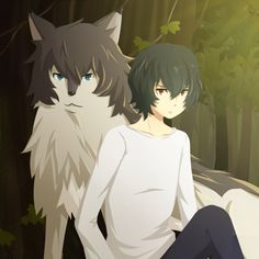 Ame and his wolf side