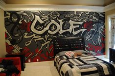 A mural that I did for a teenage boy's room.