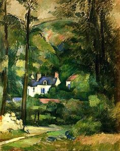 Houses in the Greenery: 1881 by Paul Cezanne (Private Collection - cannot find current location) - Impressionism