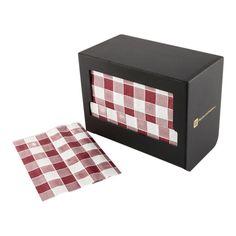 Recycled Picnic Print Napkin Dispenser Black 1 count box