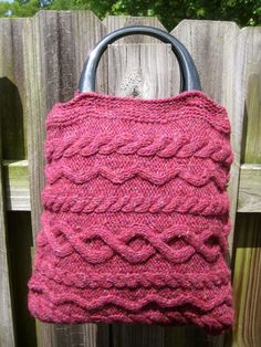 Cable Knit Purse by ForLulaGirl on Etsy, $21.00