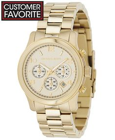 Michael Kors Women's Chronograph Runway Gold-Tone Stainless Steel Bracelet Watch 38mm MK5055 - Watches - Jewelry & Watches - Macy's