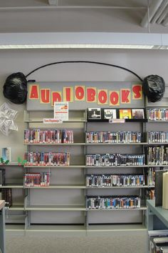 Audiobook Display At The Lawrence Branch
