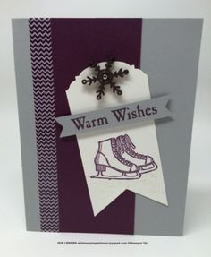 Handmade Winter/Christmas card using Winter Wishes Stamp Set from Stampin' Up!