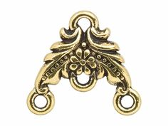 TierraCast Antique Gold-Plated Pewter Garland Link