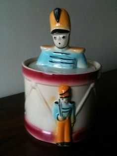Rare 1940s SHAWNEE DRUM MAJOR Cookie Jar  Near Mint by ThePeaVilla, $290.00