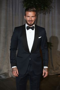 David Beckham Wears Tom Ford Tuxedo at 2015 BAFTAs | UpscaleHype