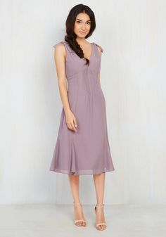 Ties to the Occasion Midi Dress in Lavender, #ModCloth