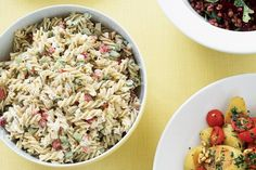 This pasta and egg salad is the perfect dish to go with leftover roasts.