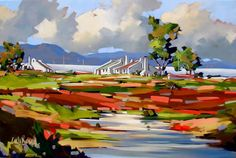 Artwork of Carla Bosch exhibited at Robertson Art Gallery. Original art of more than 60 top South African Artists - Since Tree Artwork, Canvas Artwork, Landscape Artwork, Abstract Landscape, South African Artists, Art For Art Sake, Cool Paintings, Bosch, Watercolor Art