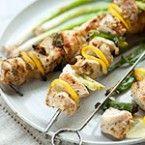 Grilled Lemon Chicken Skewers   foodiecrush.com