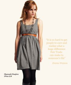 Fashionable Fair Trade!  Emma Watson for People Tree - Fair Trade and Organic Fashion!